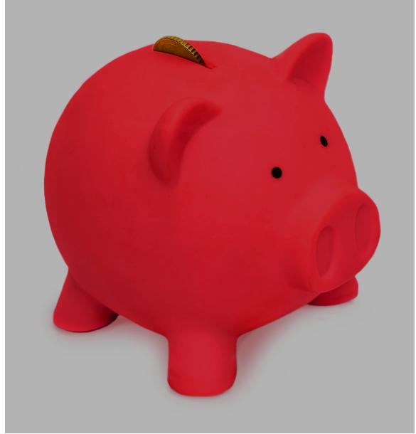 Red Door Piggy Bank